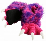 Pink & Purple Monster Paw Slippers, netvor - bačkory pantofle papuče - LazyOne
