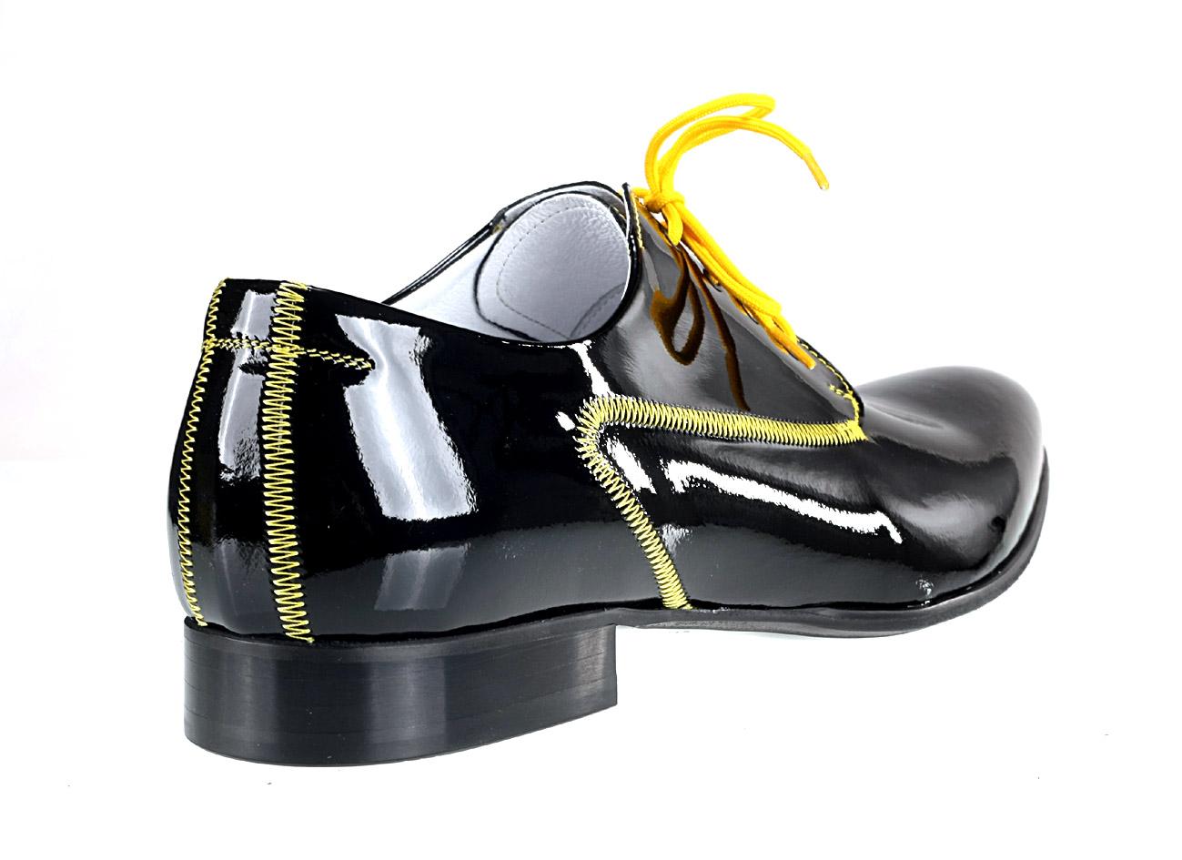 3bfc4d693f5f Formální boty pro odvážné   kůže   lak   polobotky s tkaničkami ID 490